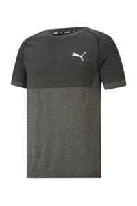 Puma gemêleerd slim fit T-shirt zwart melange, Zwart melange