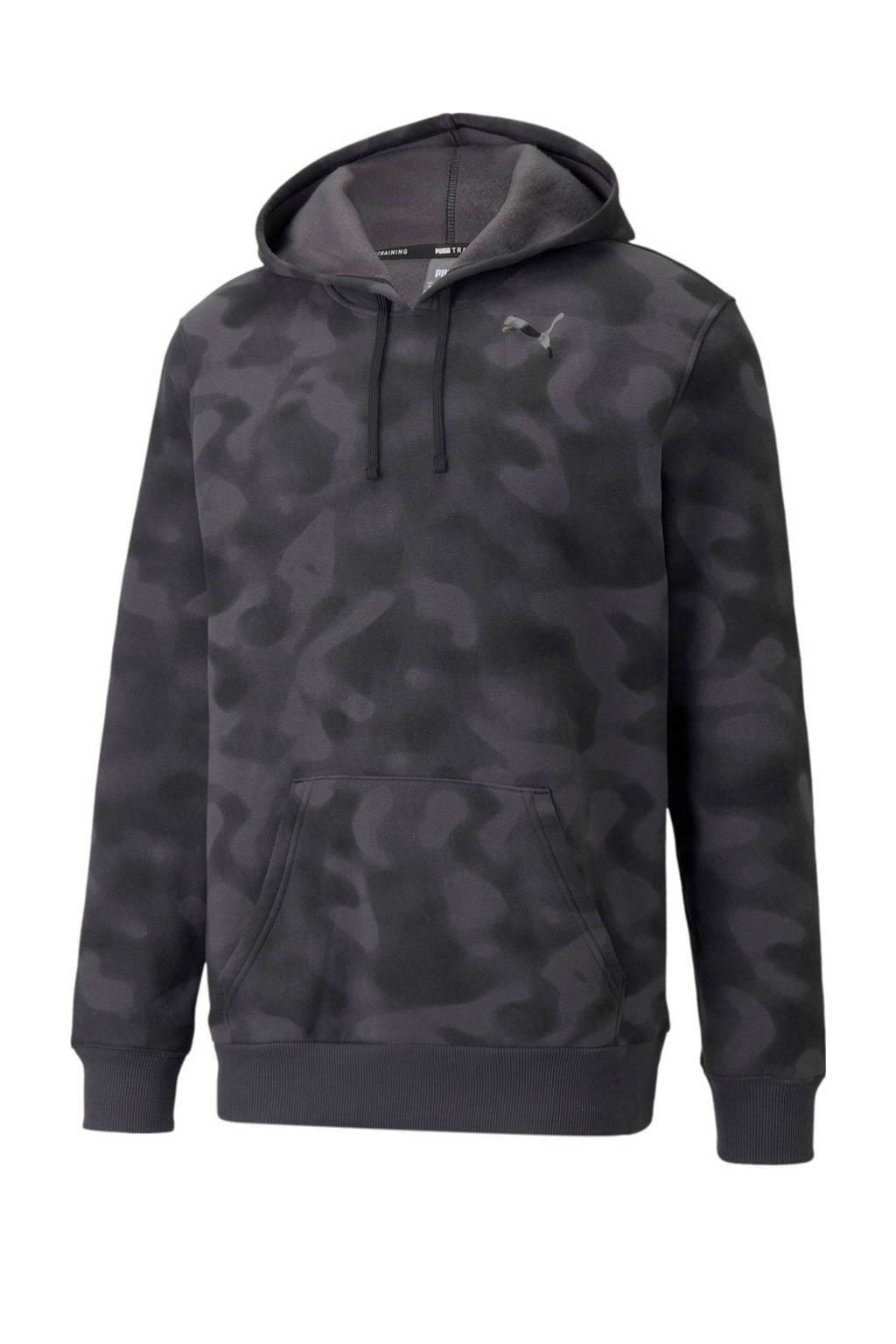 Puma   sporthoodie zwart/grijs, Zwart/grijs