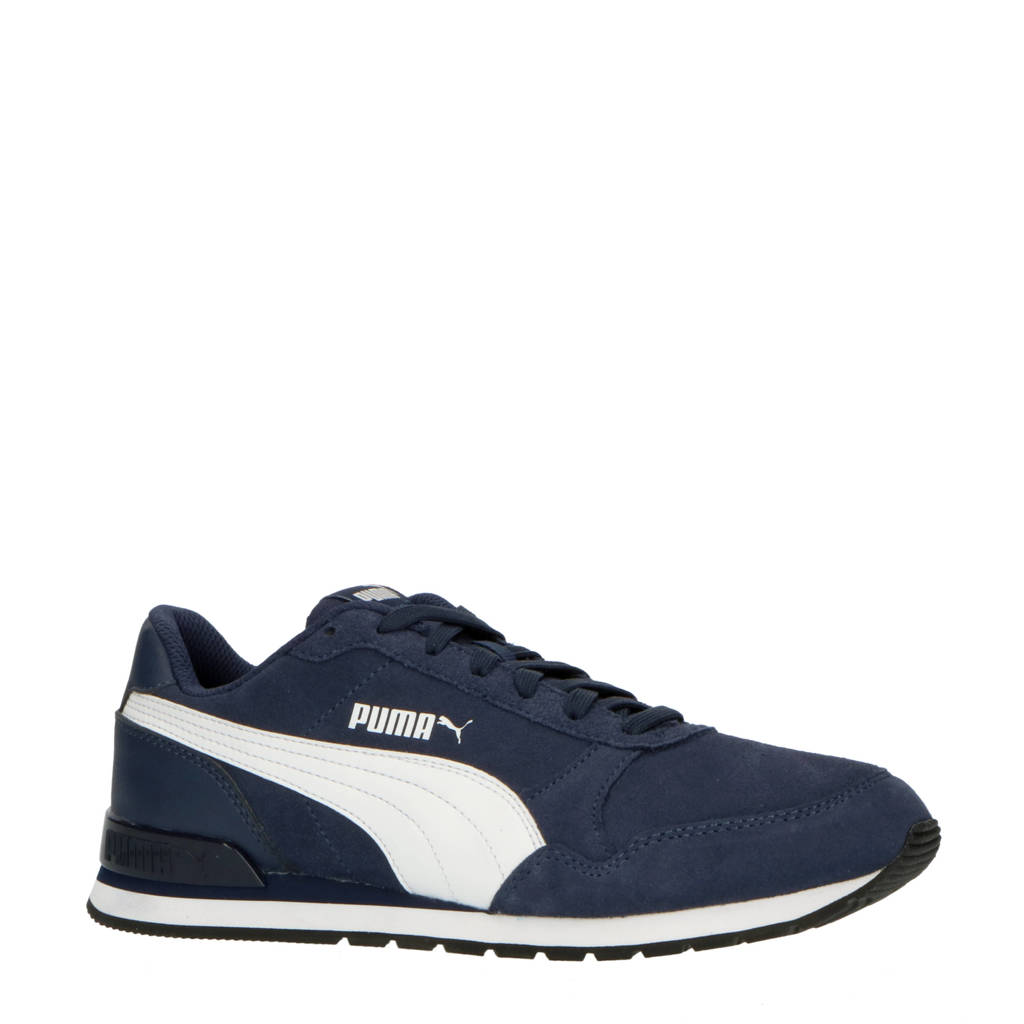 Puma ST Runner V2 SD suéde sneakers donkerblauw/wit, Donkerblauw/wit