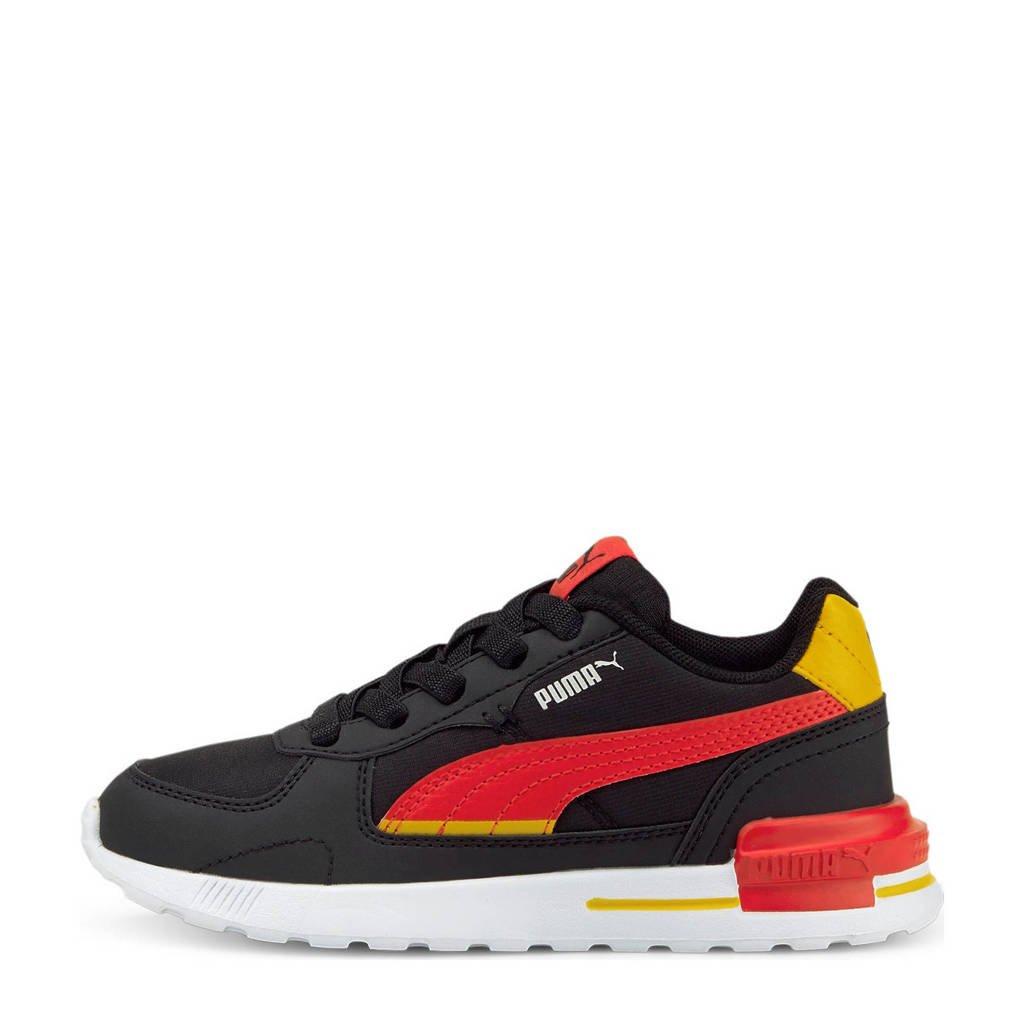 Puma Graviton Tech AC  sneakers zwart/rood/geel, Zwart/rood/geel