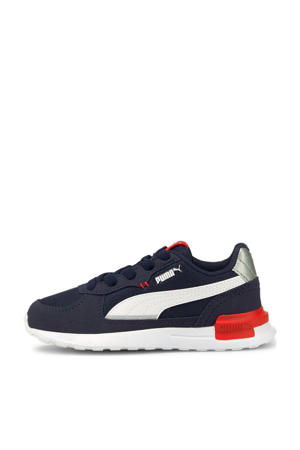 Graviton  sneakers donkerblauw/wit/rood