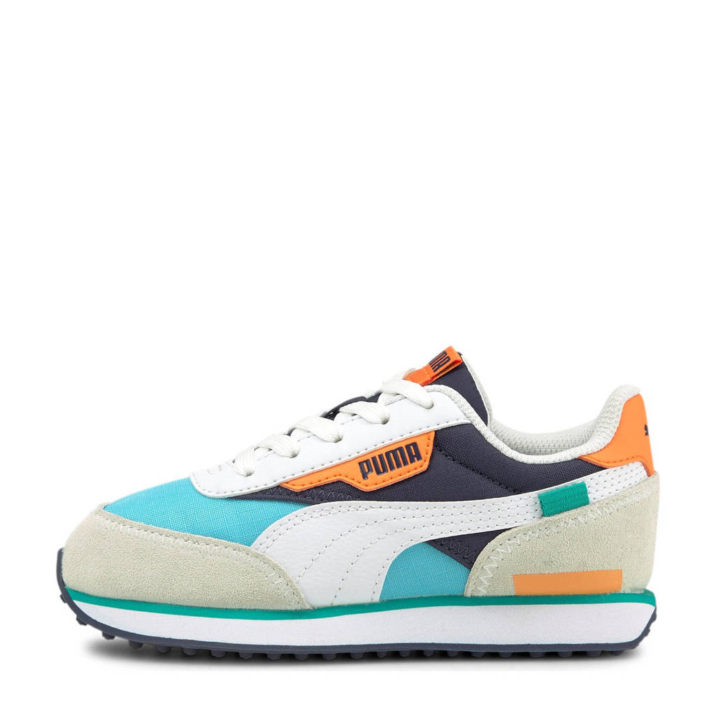 Puma Future Rider Play On sneakers wit/blauw/oranje, Wit/blauw/oranje