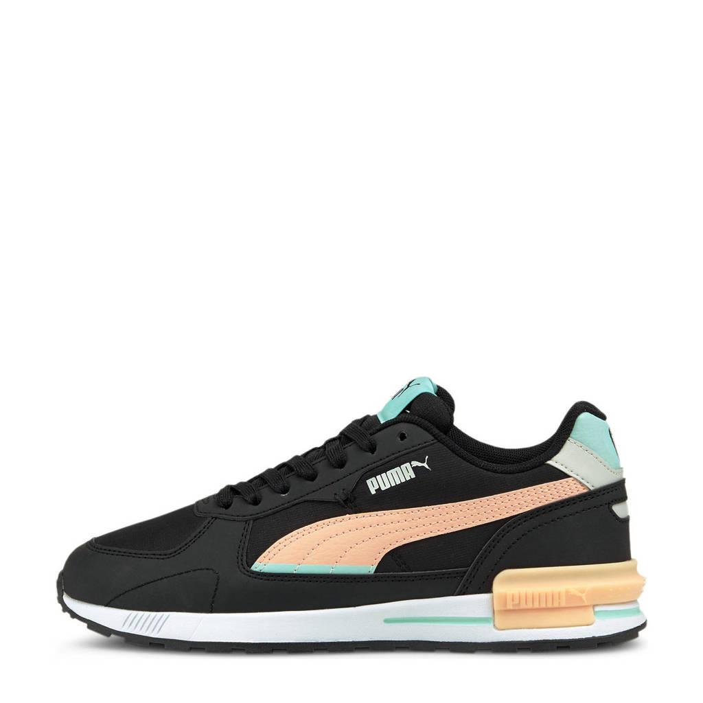 Puma   sneakers zwart/lichtoranje/aqua