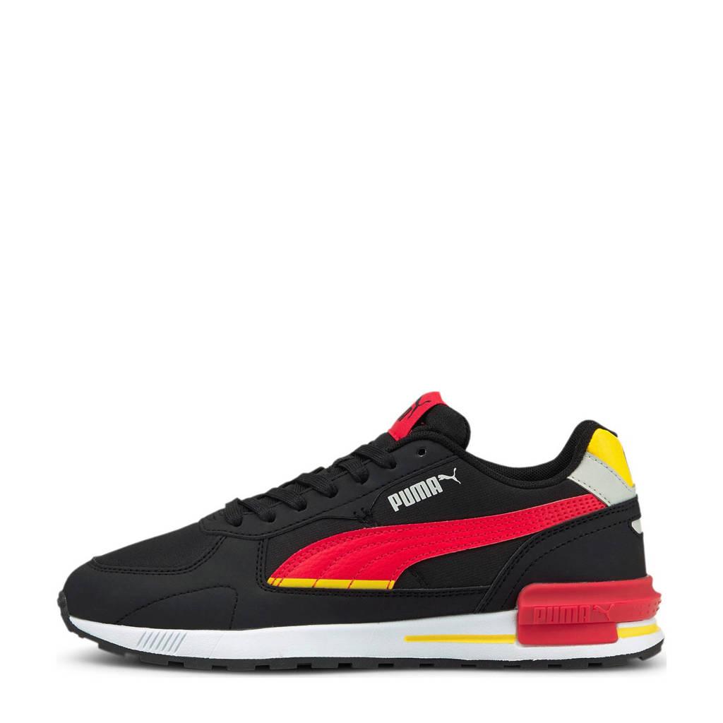 Puma   sneakers zwart/rood/geel, Zwart/rood/geel