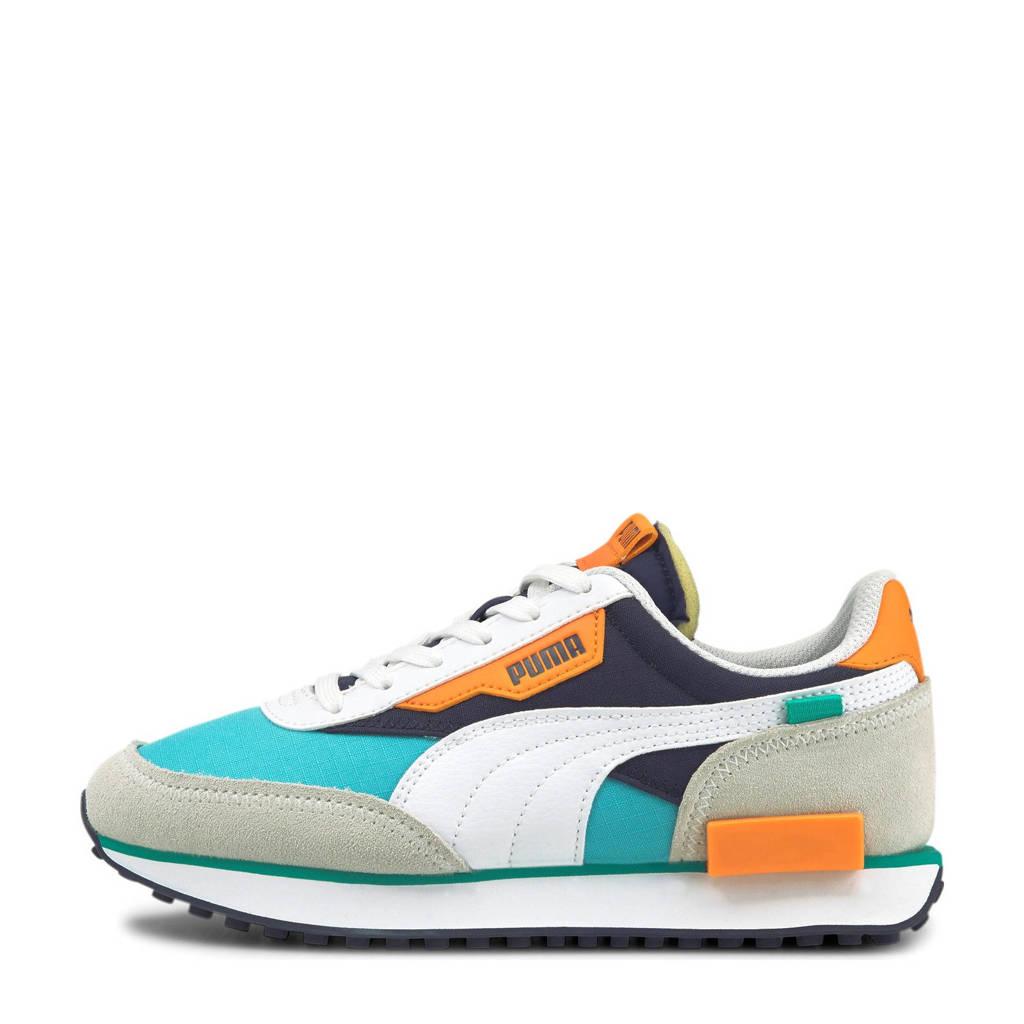 Puma Future Rider Play On sneakers wit/lichtblauw/lichtoranje