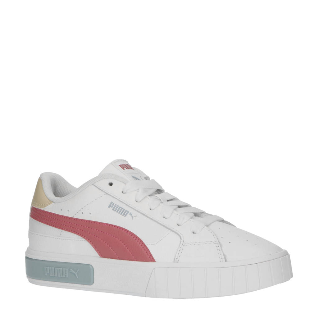 Puma Cali Star  sneakers wit/rood/lichtblauw, Wit/rood/lichtblauw