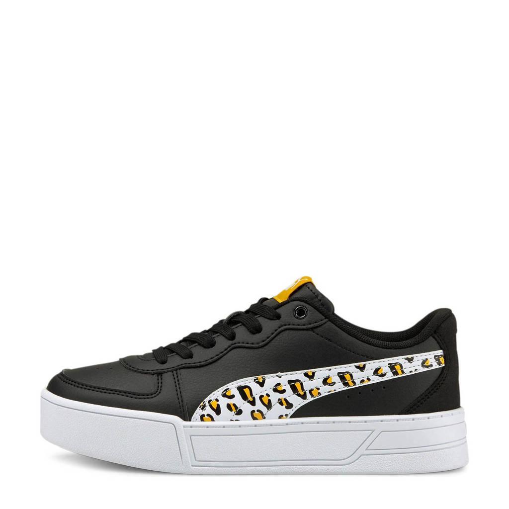 Puma Skye Roar Jr  sneakers met panterprint zwart/wit/geel, Zwart/wit/geel
