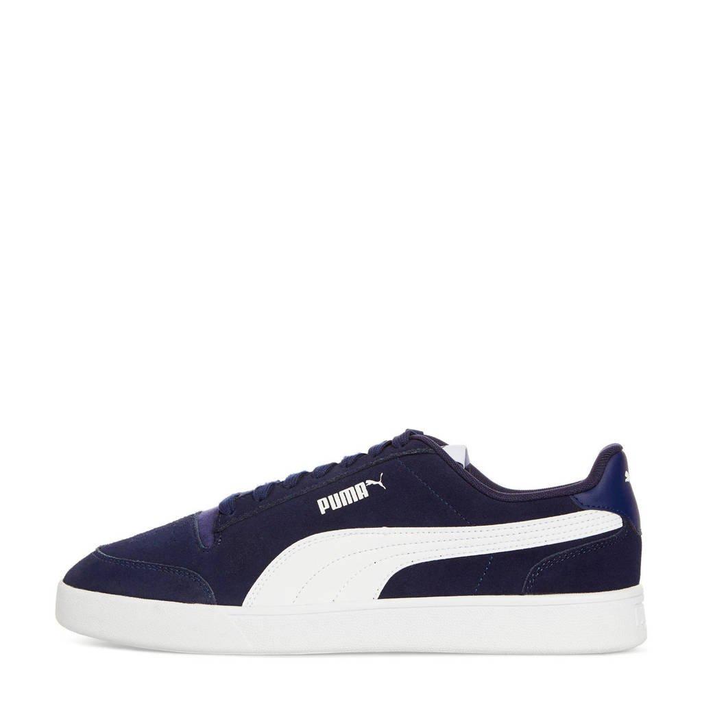 Puma Shuffle  sneakers donkerblauw/wit, Donkerblauw/blauw/wit