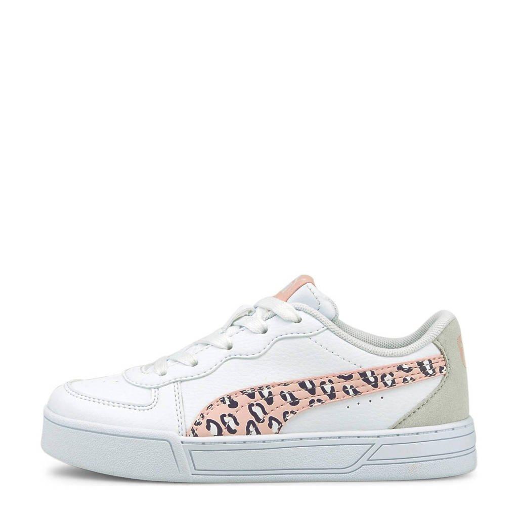 Puma Skye Roar PS  sneakers met panterprint wit/roze, Wit/roze/beige