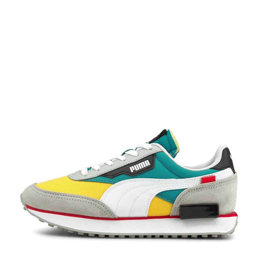 Puma Future Rider Play On sneakers geel/blauw/lichtoranje, Geel/blauw/oranje