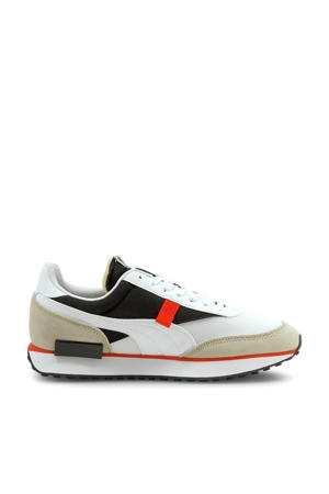 Future Rider Core sneakers wit/donkergroen/zand