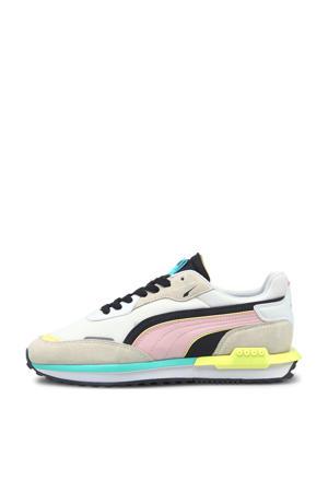 City Rider  sneakers grijs/roze/geel