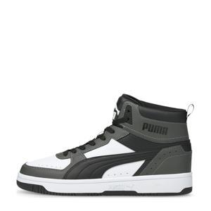 sneakers antraciet/zwart/wit
