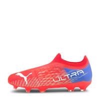 Puma Ultra 3.3 FG/AG Jr. voetbalschoenen oranje/wit/blauw, Oranje/wit/blauw