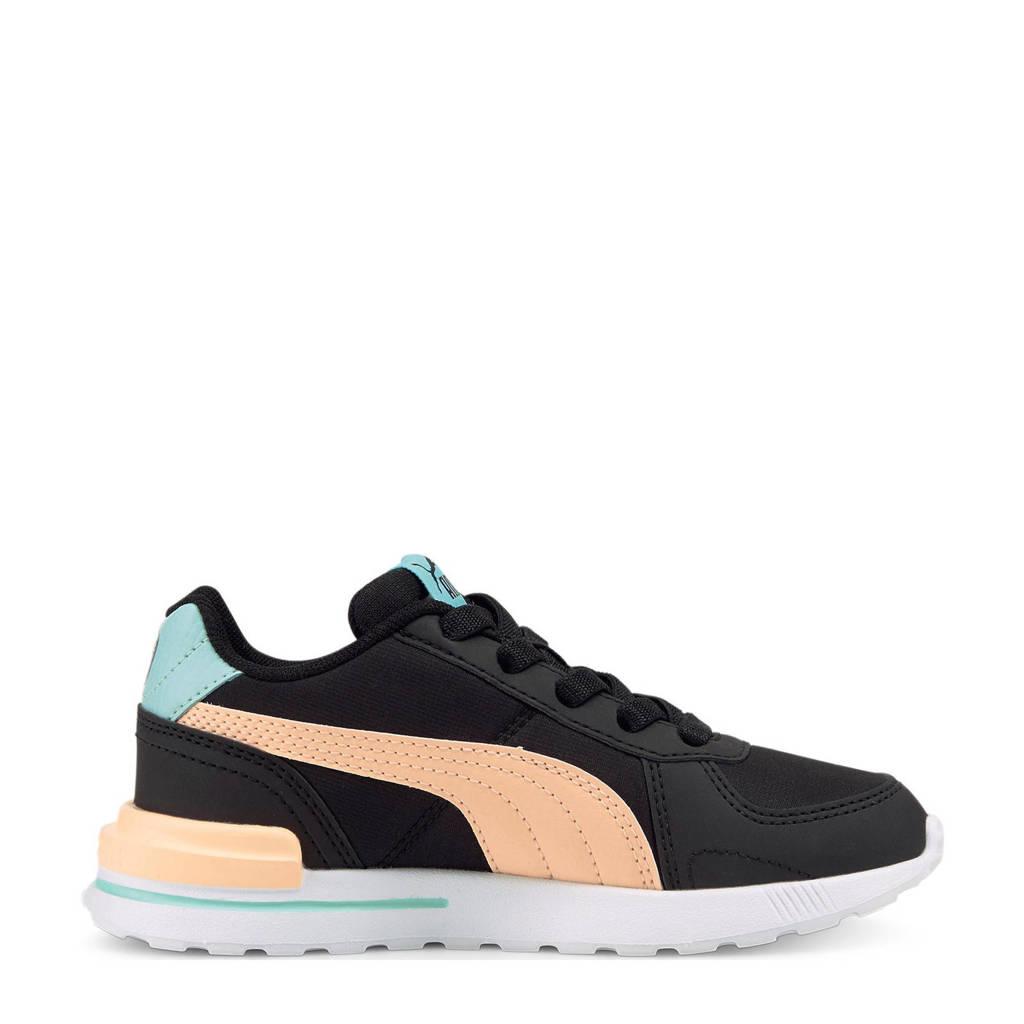 Puma Graviton Tech AC  sneakers zwart/rroze/mintgroen, Zwart/roze/mintgroen