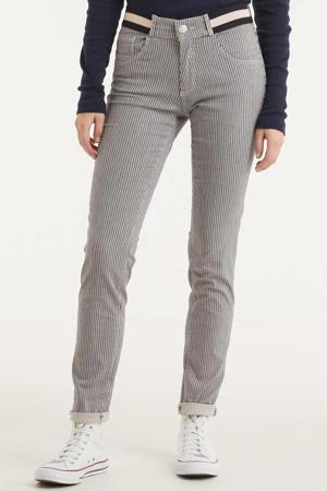 gestreepte skinny jeans Celine donkerblauw