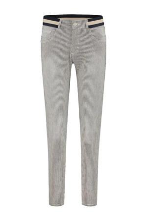 gestreepte skinny jeans Celine grijs