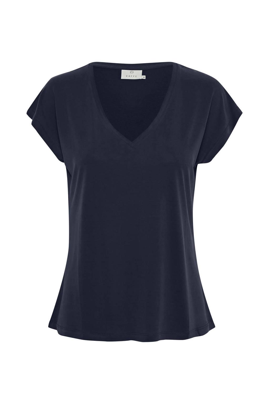 Kaffe T-shirt Ana donkerblauw, Donkerblauw