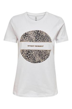 T-shirt ONLJENNA met printopdruk wit