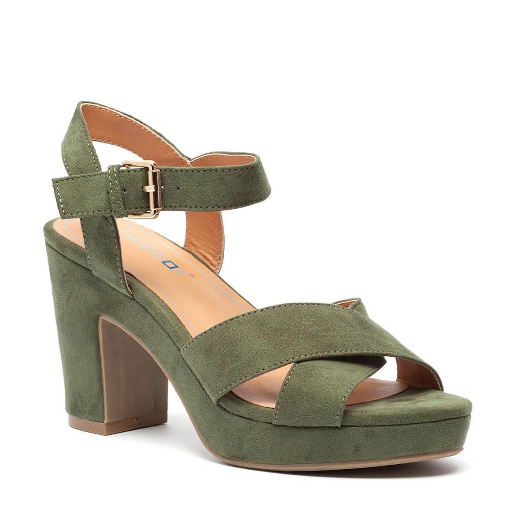 Scapino Blue Box   sandalettes groen, Groen