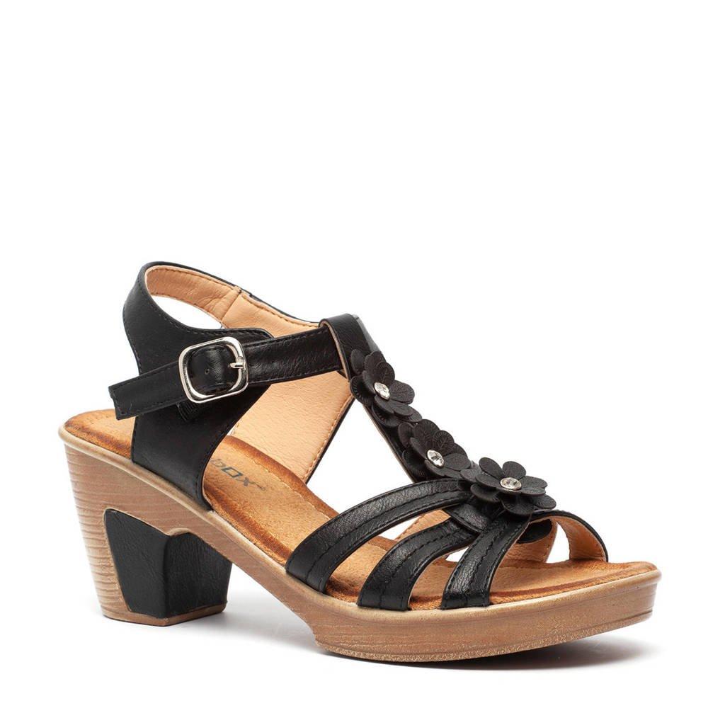 Scapino Blue Box   sandalettes zwart, Zwart
