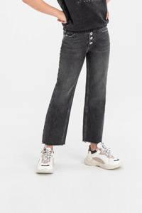 Shoeby Jill & Mitch straight fit jeans Lieke zwart, Zwart