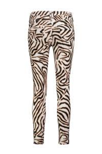 Claudia Sträter skinny jeans met dierenprint ecru/zwart/lichtbruin, Ecru/zwart/lichtbruin
