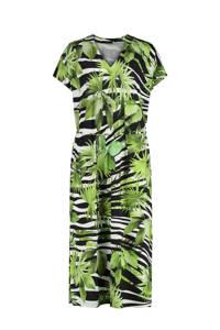 Claudia Sträter jurk groen/zwart/wit, Groen/zwart/wit