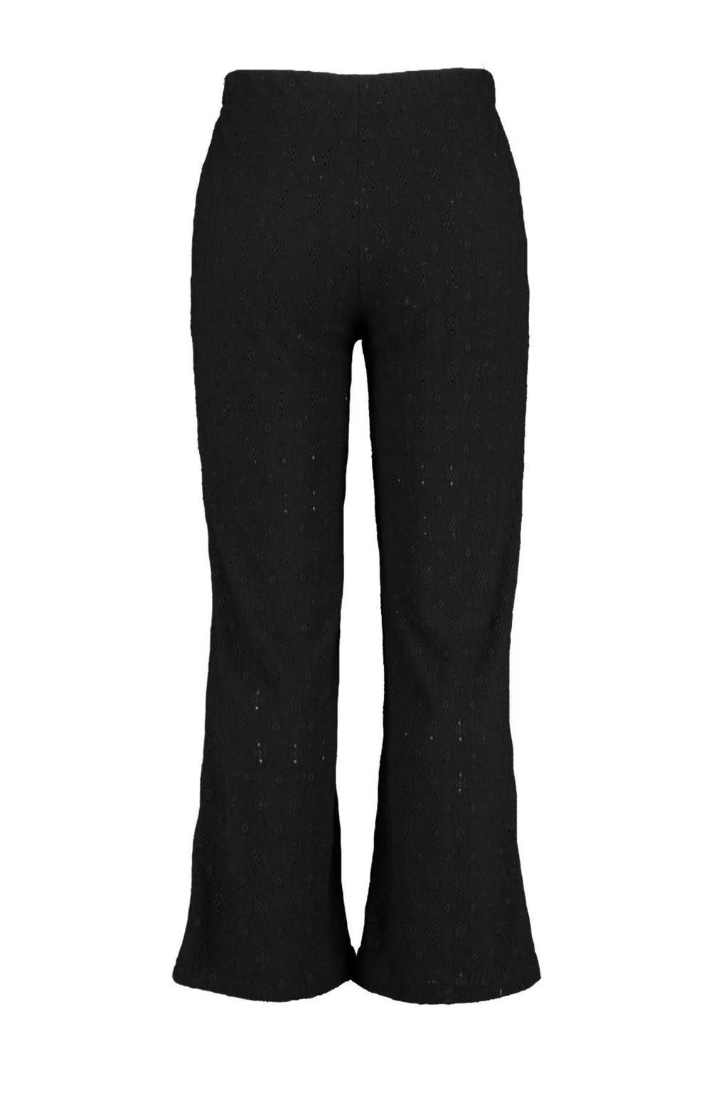MS Mode high waist loose fit palazzo broek zwart, Zwart