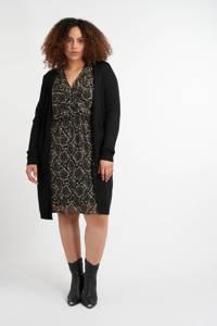 MS Mode fijngebreid vest zwart, Zwart