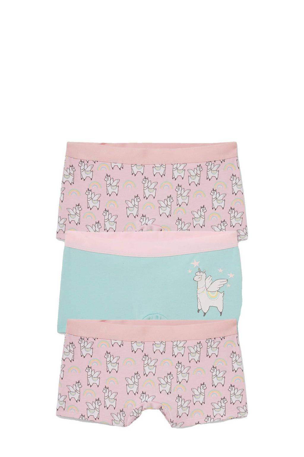 C&A Palomino short - set van 3 met print roze/turquoise, Roze