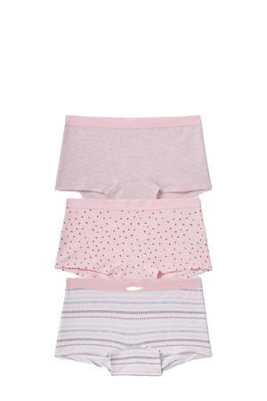 boxershort - set van 3 roze