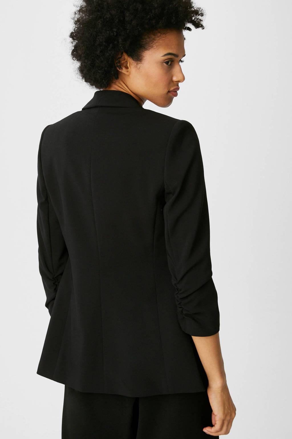 C&A Yessica Tailored blazer met ruches zwart, Zwart
