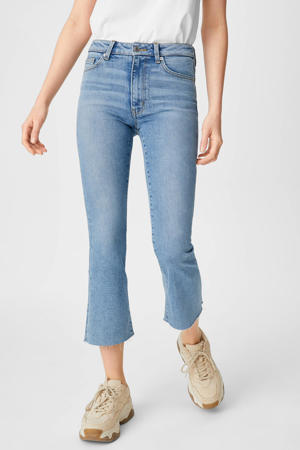 cropped bootcut jeans lichtblauw