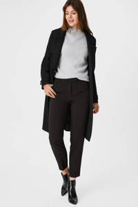 C&A slim fit pantalon zwart, Zwart