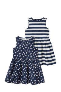 C&A reversible jurk wit/donkerblauw, Donkerblauw/wit