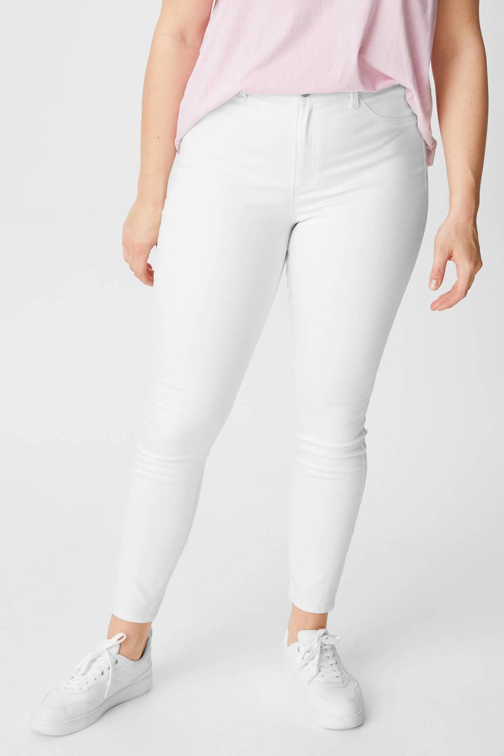 C&A XL Clockhouse high waist super skinny jeans wit, Wit