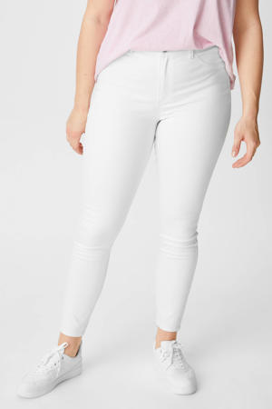 high waist super skinny jeans wit