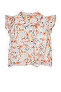 C&A Happy girls Club gebloemde blouse oranje, Oranje