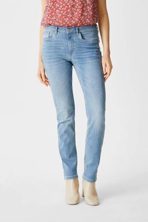 slim fit jeans met biologisch katoen lichtblauw