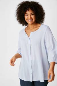 C&A XL Yessica blouse van biologisch katoen lichtblauw, Lichtblauw