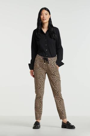 blouse Ria van travelstof zwart