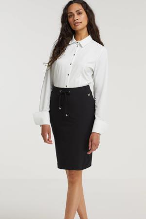 blouse Ria van travelstof wit