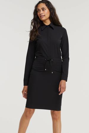 body blouse Lynde van travelstof zwart