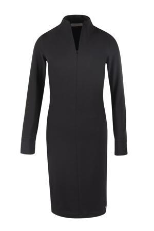jurk Floortje van travelstof zwart