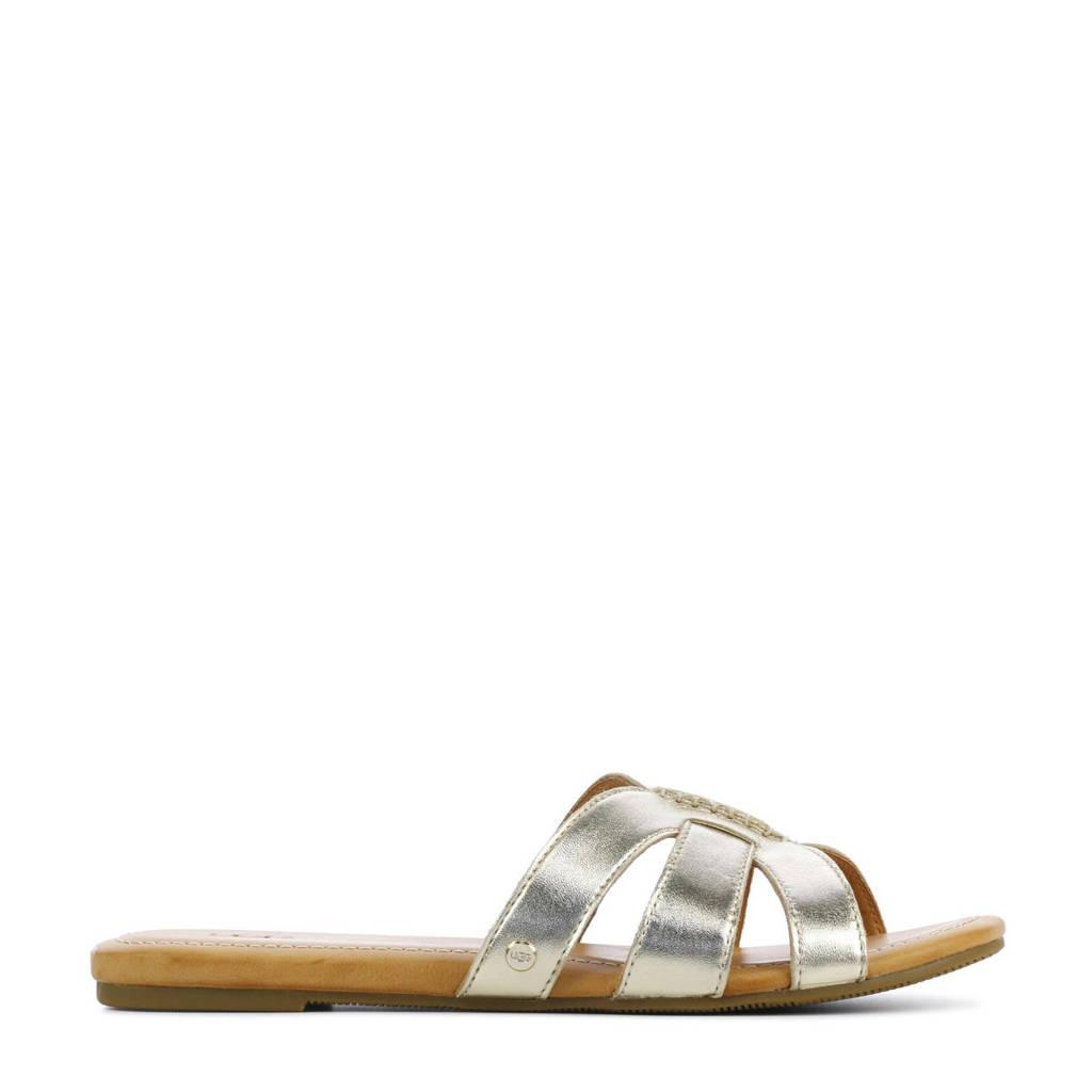 UGG Teague 1119753 leren slippers goud, goud/metallic