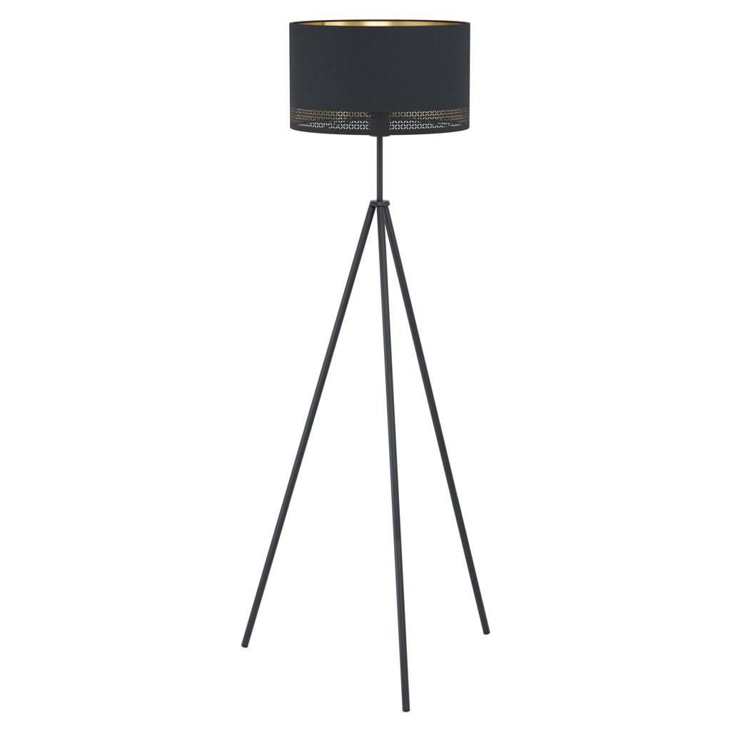EGLO vloerlamp Esteperra, Zwart, Goud