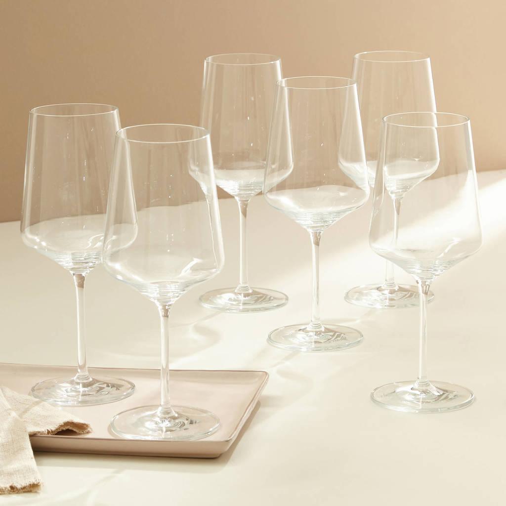 Wehkamp Home wijnglas rood Julie (set van 6), Transparant