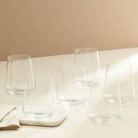 Wehkamp Home waterglas Julie (set van 6), Transparant