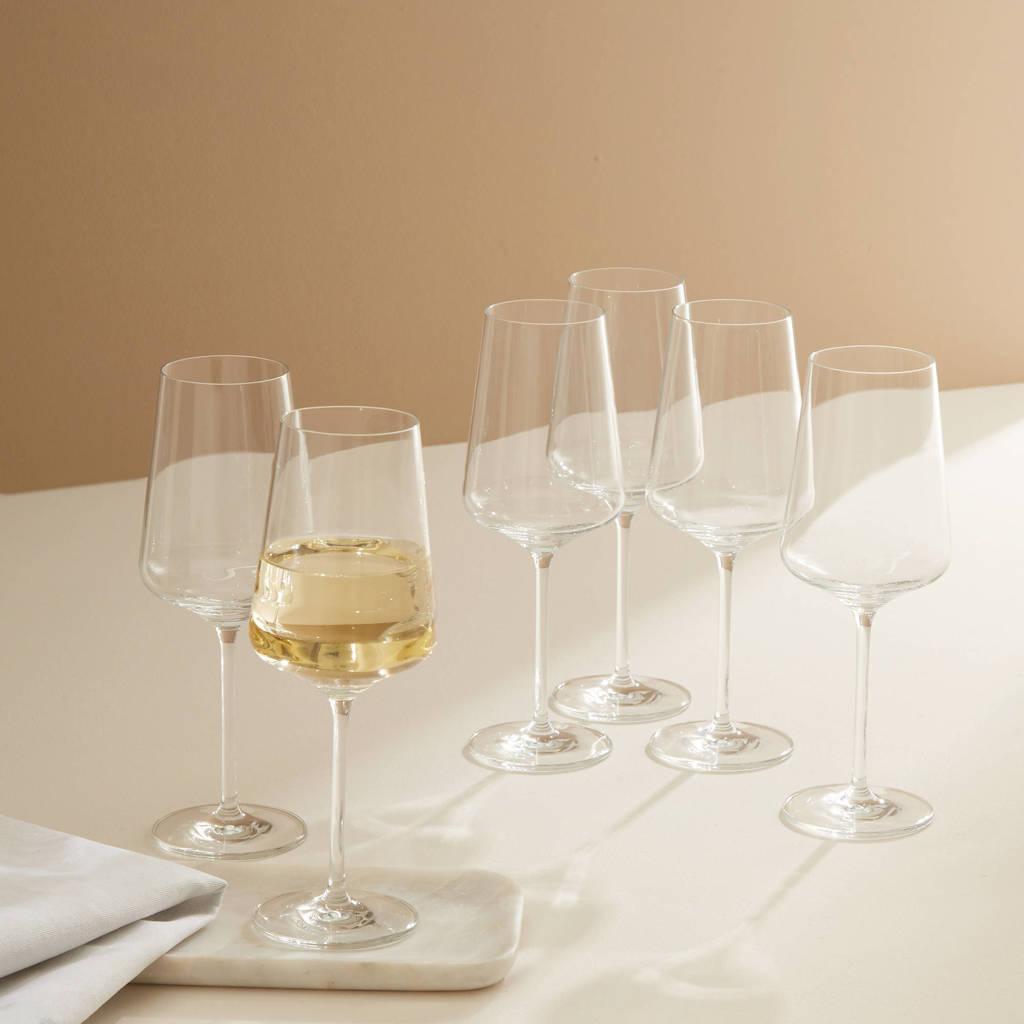Wehkamp Home wijnglas wit Julie (set van 6), Transparant